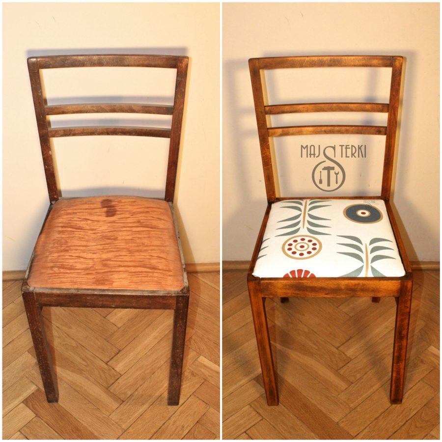 Jedno z dwóch bliżniaczych krzesełek wprost z kontenera