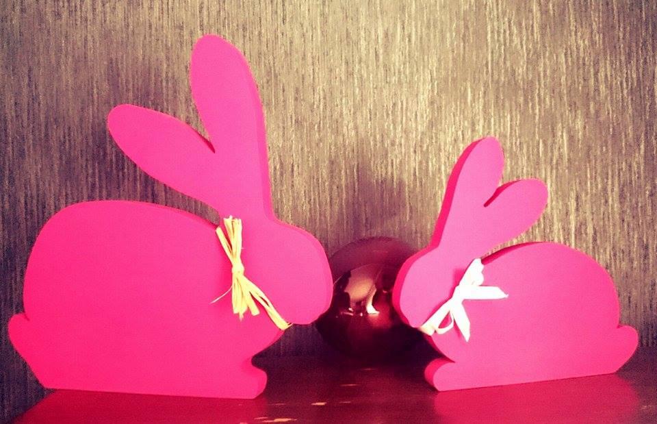 Amarantowe króliki od firmy 4timber