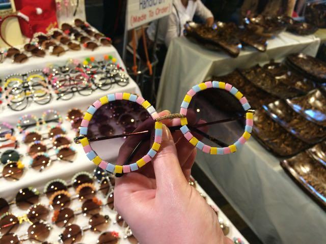 Okulary słoneczne ręcznie zdobione