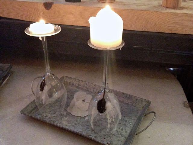 Świece z kieliszków