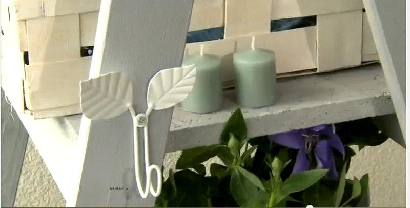 Zielnik z drabiny także na świece