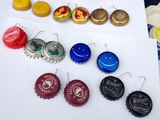 Kolczyki z kapsli