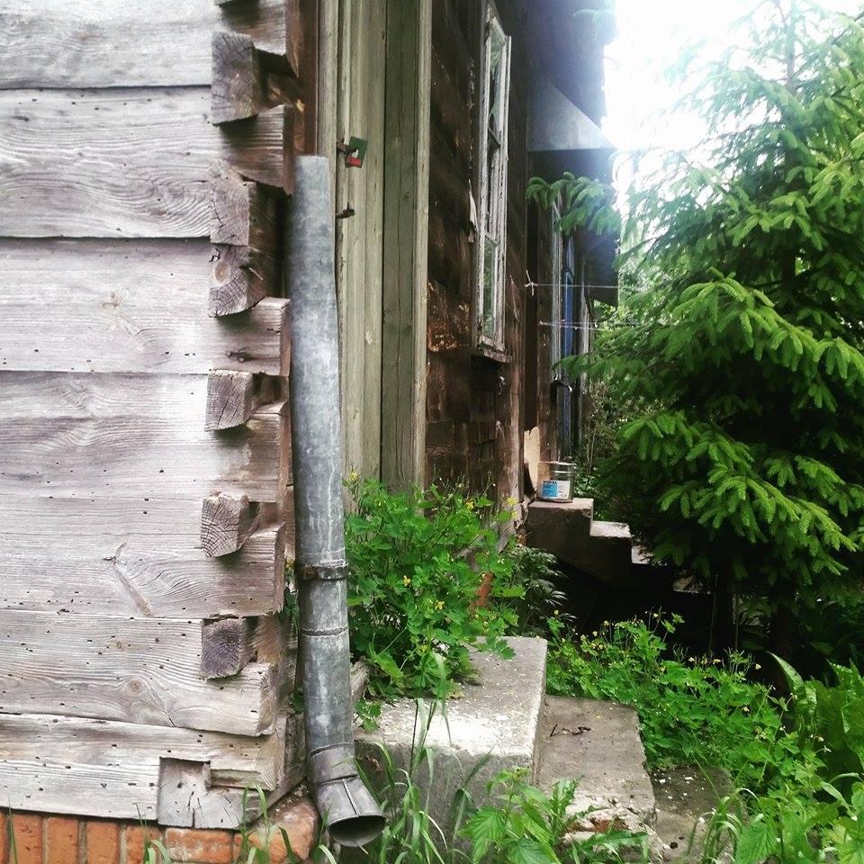 Stary drewniany dom na mazowieckiej Wsi