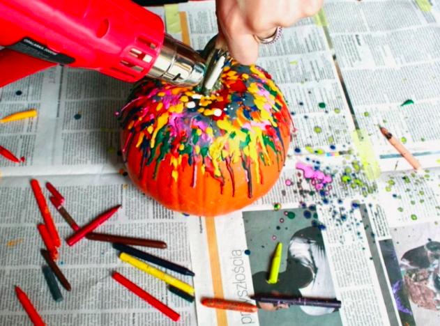 Ozdabianie dynin na Halloween