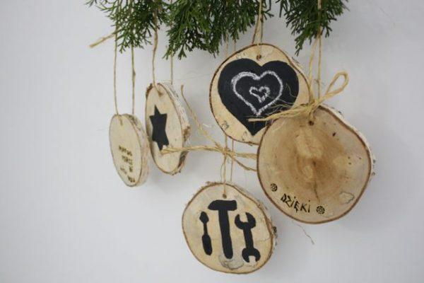 Ozdoby świąteczne z brzozy