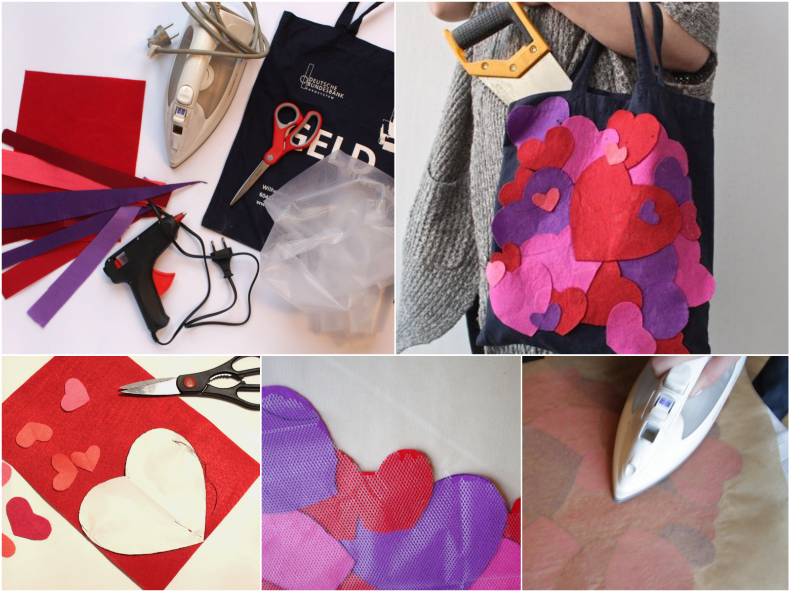 Torebka w serca na Walentynki