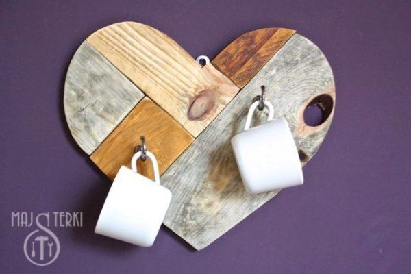 Serce z palet na Walentynki