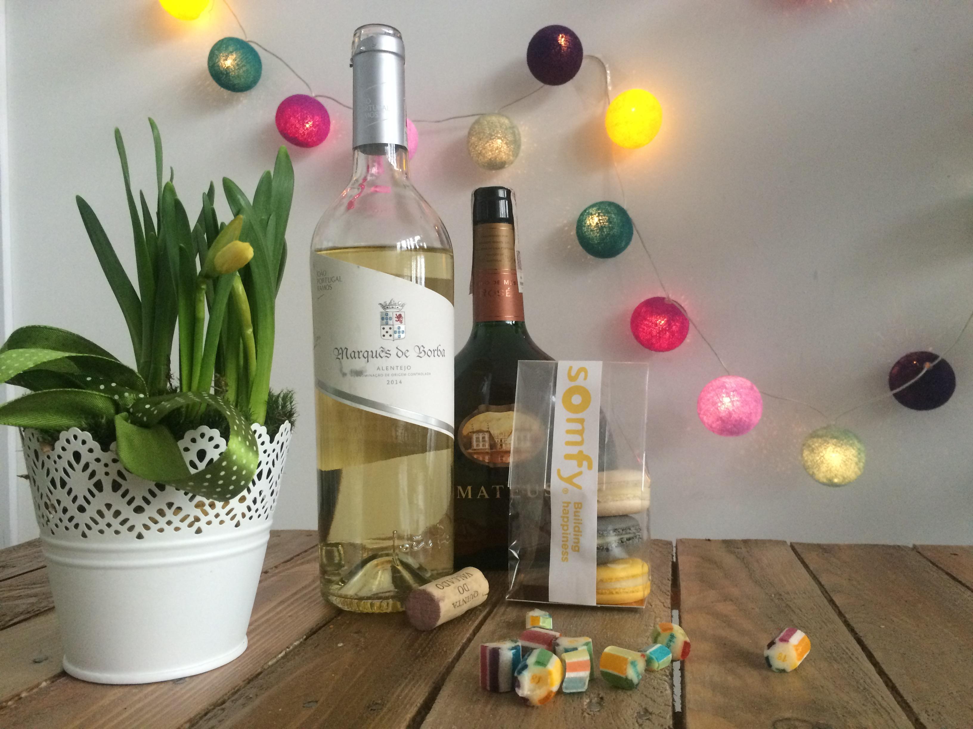 Wina od Biedronki i slodkosci od Somfy