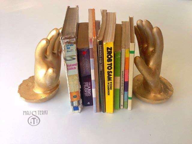 Złote ręce z gipsu, robimy podpórki DIY do książek