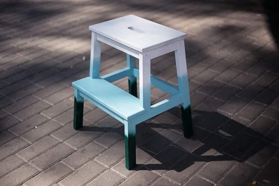 stolek wiosna ombre malowanie