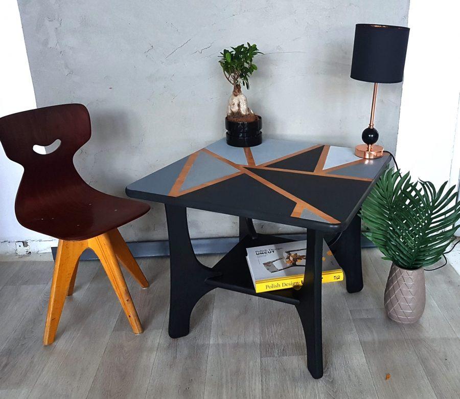 przemalowany stol mdf