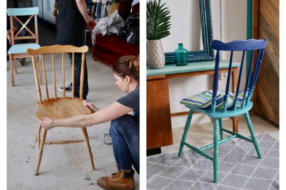 majsterki krzeslo renowacja malowanie